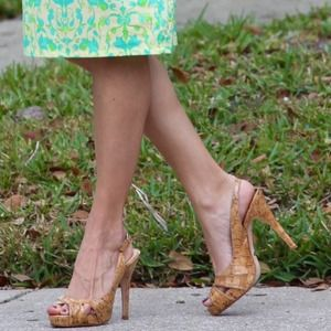ABS by Allen Schwartz Shoes - Cork platform heels