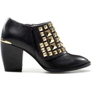 Zara Gold Studded Ankle Boot