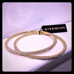 ❤️NEW Givenchy Sparkly Crystal Gold Set-2 Bangles!