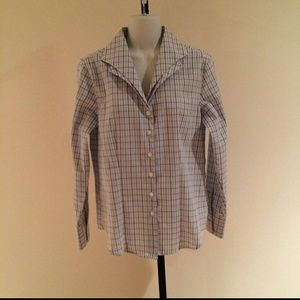 Orvis Tops - ORVIS Plaid Tailored Blouse