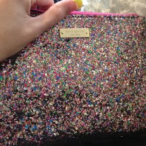Kate Spade Little Gia Glitter Clutch/Pouch