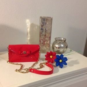 Red Tory burch handbag