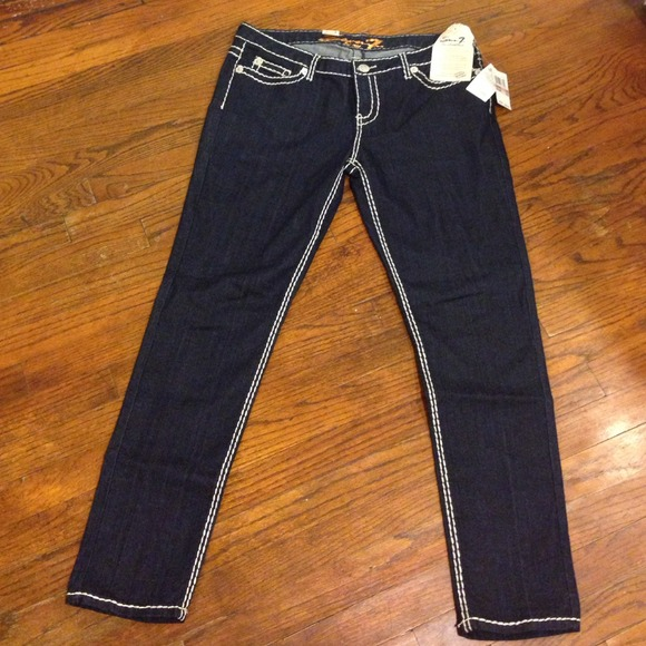 43% off 7 for all Mankind Denim - Seven7 Jeans Heavy Stitch Skinny ...