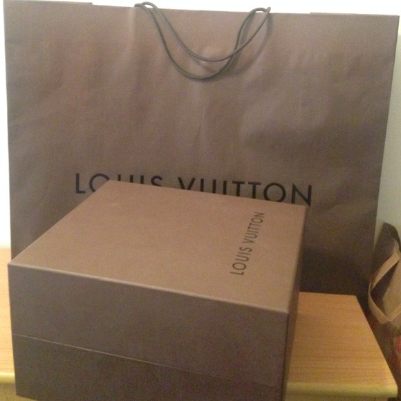 authentic louis vuitton gift box and paper bag