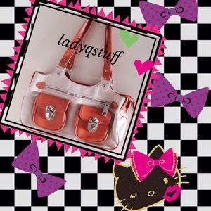 ⬇REDUCED⬇Beige and tangerine bag