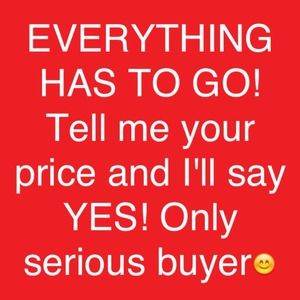 Only serious buyers please! 😊👍😘💗