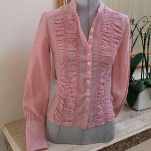 Karen Millen Tops - Silk & cotton shirt