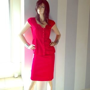 Scarlet top or pencil skirt sold separate or