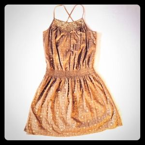 Gold sparkly sun dress
