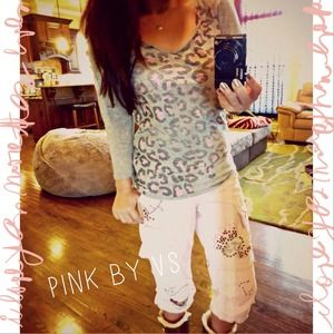 ⛔️BUNDLED⛔️✨ PINK by VS grey leopard tee
