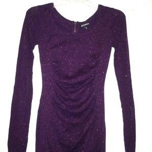 LIKE NEW Express schrunch dress-WORN ONCE!