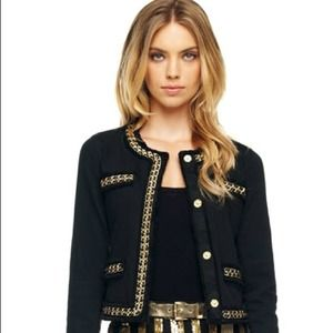 Michael Kors Womens Chain Style Jacket 8
