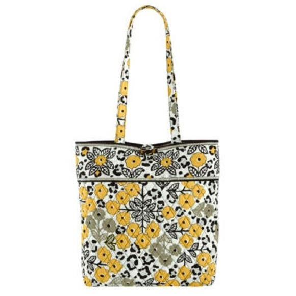 1c4d2f1854ed Yellow Vera Bradley Go Wild Flower Tote Bag Purse