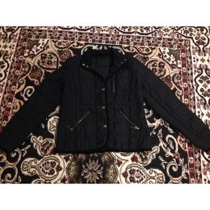 Ralph Lauren Black Quilted Coat