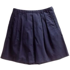 RESERVED Host Pick Madewell Navy Kickpleat Skirt