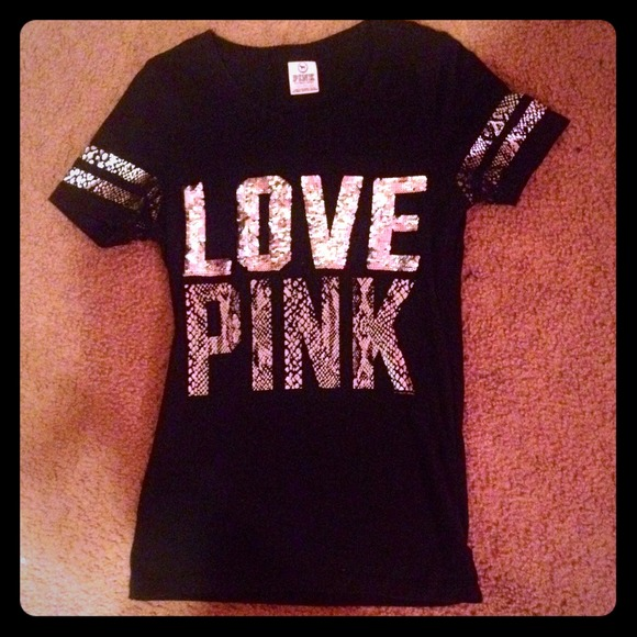 66% off Victoria's Secret Tops - Victoria's Secret PINK Sequin ...