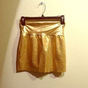 AA gold body con skirt