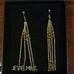 Gold tone tassle earrings
