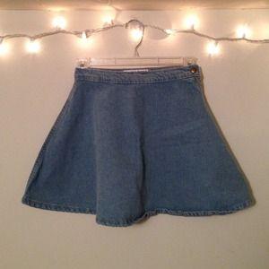 Hold- AA Denim Circle Skirt