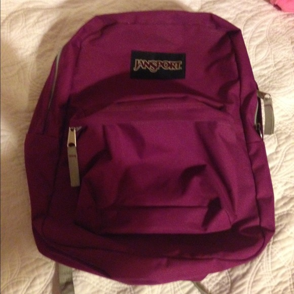 55% off jansport Handbags - MAGENTA JANSPORT BACKPACK from ...