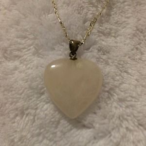 """Jewelry - """"NEW"""" Pink Stone Pendant and Necklace"""