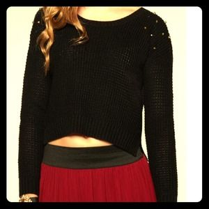 Sweaters - FLASH SALE! Black studded sweater NWT