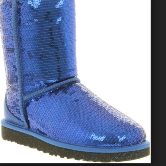 blue sequin ugg boots