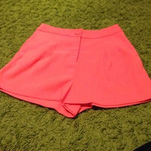 Brand new Orange high waisted shorts