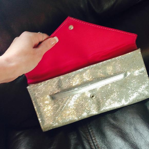 Victoria's Secret Bags - Victoria's Secret Silver Clutch