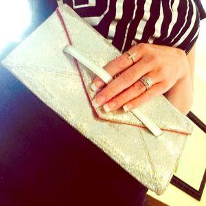 Victoria's Secret Bags - Victoria's Secret Silver Clutch 1