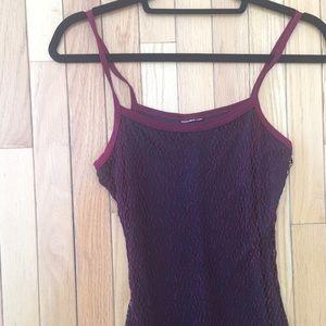 Dresses & Skirts - Romantic burgundy fishnet dress