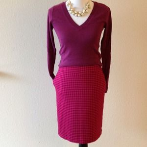 BUNDLED. NEW houndstooth pencil skirt, sz 2.