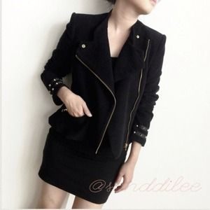 Zara black velvet jacket