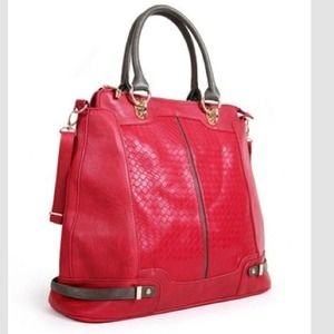 Segolene Paris Handbags - Stunning 100% Leather a Embossed French Bag