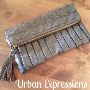 Urban Expressions Clutches & Wallets - Urban Expressions Fold Over Clutch & black dress