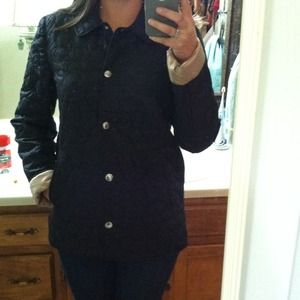 Coach quilted black coat! nWt
