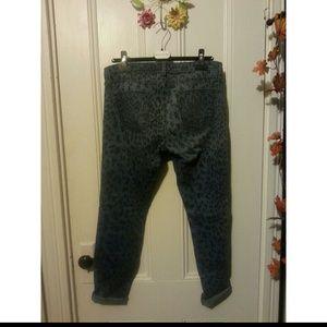 Current/Elliott Jeans - CurrentElliott The Rolled Skinny in Indigo Leopard