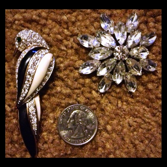 Rare vintage brooches