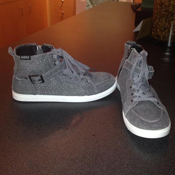 Roxy Shoes | Gray Roxy High Top Shoes