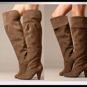 Free People Suede Vamp Over the Knee Boots