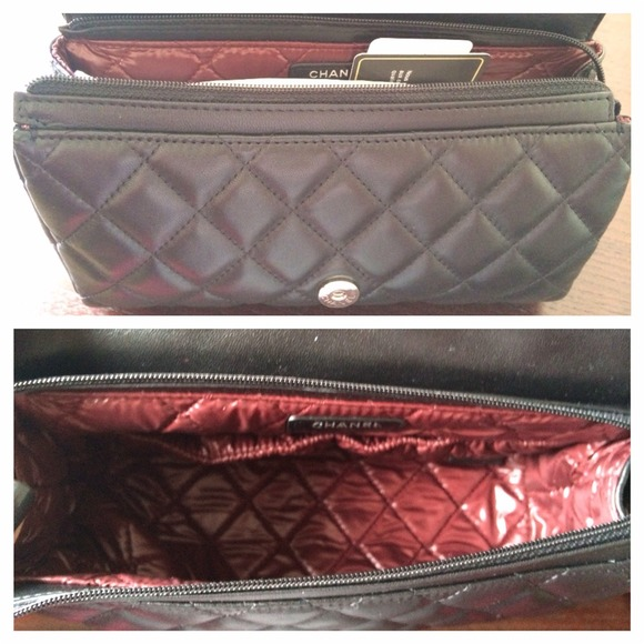 58fdb652298b40 CHANEL - SOLD 13C Chanel Quilted Cosmetic Case w/ SHW from Mrscamilla'