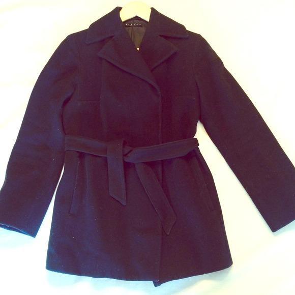 Sisley Benetton black wool coat xs. M 52e3e2723a3efc0b40061fba 5d2879d57