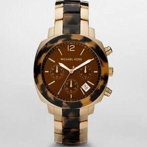 Michael Kors Watch Gold/Tortoise