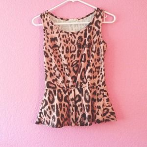 PINK ANIMAL PRINT PEPLUM.