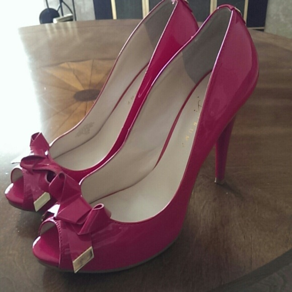 c92d6192a51 Ivanka Trump Shoes - Hot pink open toe pumps and floral bangle