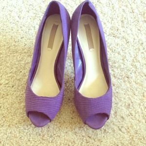 ZARA Purple peek a boo pumps