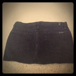7 for all mankind black denim mini skirt!!