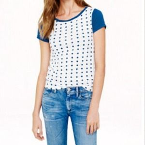 J.crew Dot Color Block Tee