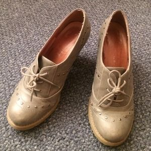 Shoes - Grey leather Oxford