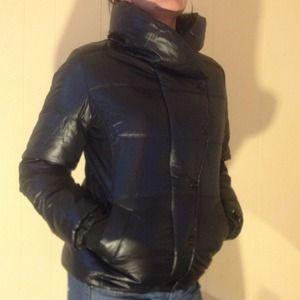 Old Navy fleece lined down coat